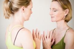 meditationshaltung anjali mudra (geste der verehrung)
